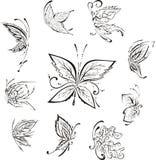 Gestileerde vlinders Stock Foto's