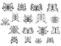 Gestileerde vlinders Stock Foto