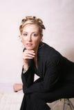 Gestileerde vrouw royalty-vrije stock afbeelding