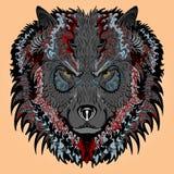 Gestileerde wolf Royalty-vrije Stock Foto's
