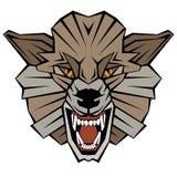 Gestileerde wolfs hoofd vectorillustratie Stock Foto