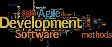 Gestion agile de développement Photos stock