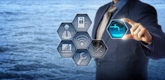 Gestion d'Activates Smart Water d'ingénieur civil photo libre de droits