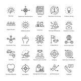 Gestion d'entreprise et ligne icônes 34 de vecteur de croissance illustration de vecteur