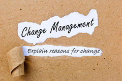 Gestion de changement - expliquez les raisons du changement - stratégies réussies pour la gestion de changement photos libres de droits