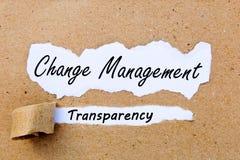 Gestion de changement - transparent - stratégies réussies pour la gestion de changement Image libre de droits