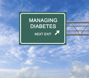 Gestion de diabète photo libre de droits