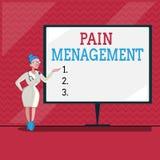 Gestion de douleur des textes d'écriture de Word Concept d'affaires pour une branche de médecine utilisant une approche interdisc illustration libre de droits