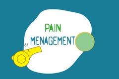 Gestion de douleur des textes d'écriture de Word Concept d'affaires pour une branche de médecine utilisant une approche interdisc illustration stock