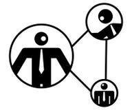 Gestion de réseau d'hommes d'affaires Image libre de droits