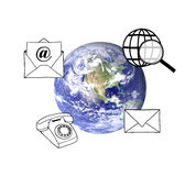 Gestion de réseau globale Photos libres de droits