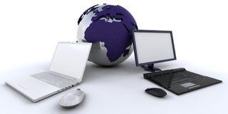 Gestion de réseau globale Photographie stock libre de droits