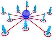 gestion de réseau globale Photographie stock