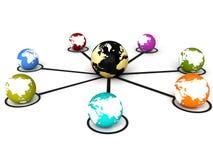 gestion de réseau globale Photo libre de droits