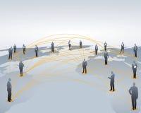 Gestion de réseau mondiale Photo stock