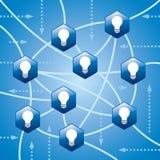 Gestion de réseau sociale avec l'idée Photo libre de droits