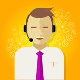 Gestion de relations de client de crm de centre d'appels Photo libre de droits