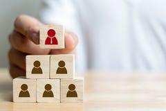 Gestion de ressource humaine et concept d'affaires de recrutement Photo libre de droits
