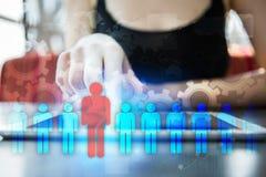 Gestion de ressource humaine, heure, recrutement, direction et teambuilding Photo stock