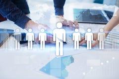 Gestion de ressource humaine, heure, recrutement, direction et teambuilding Photographie stock libre de droits