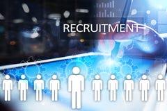 Gestion de ressource humaine, heure, recrutement, direction et teambuilding Concept d'affaires et de technologie Photo stock