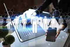 Gestion de ressource humaine, heure, recrutement, direction et teambuilding Concept d'affaires et de technologie Photographie stock