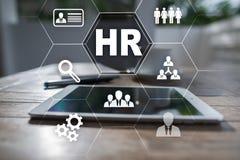 Gestion de ressource humaine, heure, recrutement, direction et teambuilding Concept d'affaires et de technologie Image libre de droits