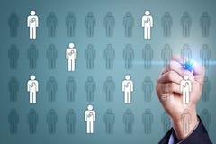 Gestion de ressource humaine, heure, recrutement, direction et teambuilding Concept d'affaires et de technologie Images libres de droits