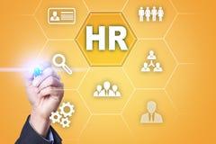 Gestion de ressource humaine, heure, recrutement, direction et teambuilding Concept d'affaires et de technologie Image stock