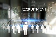Gestion de ressource humaine, heure, recrutement, direction et teambuilding Concept d'affaires et de technologie illustration stock