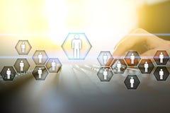 Gestion de ressource humaine, heure, recrutement, direction et teambuilding Concept d'affaires et de technologie illustration libre de droits