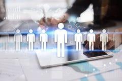 Gestion de ressource humaine, heure, recrutement et teambuilding Concept d'affaires Photos stock