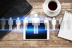 Gestion de ressource humaine, heure, recrutement et teambuilding Concept d'affaires Photo stock