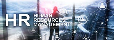 Gestion de ressource humaine, heure, Team Building et concept de recrutement sur le fond brouillé illustration de vecteur