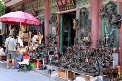 Gestion de sculpture baroque sur le marché aux puces panjiayuan de Pékin Images libres de droits