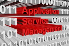 Gestion de service d'application Images stock