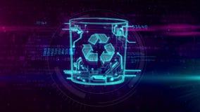 Gestion des données avec des déchets d'ordinateur clips vidéos