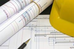 Gestion des projets de construction Photographie stock