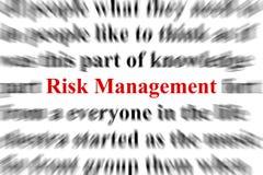 Gestion des risques Image stock