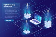 Gestion du marketing de Digital Image stock