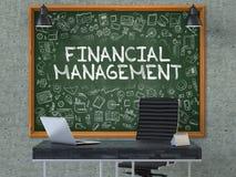 Gestion financière sur le tableau dans le bureau 3d Images libres de droits