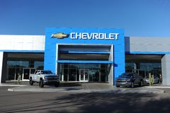 Gestione commerciale di Chevrolet Fotografie Stock