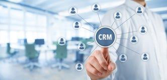 Gestione CRM di rapporto del cliente Immagini Stock Libere da Diritti