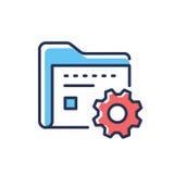 Gestione dei dati - linea moderna icona di vettore di progettazione royalty illustrazione gratis