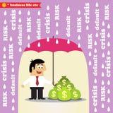 Gestione dei rischi dei soldi Fotografia Stock
