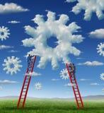 Gestione della nuvola Immagini Stock Libere da Diritti
