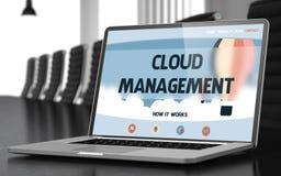 Gestione della nuvola - sullo schermo del computer portatile closeup 3d Fotografia Stock Libera da Diritti