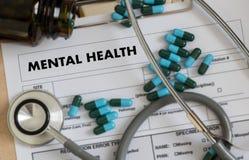 Gestione dello stress psicologica mentale e Psychol di SALUTE MENTALE immagine stock libera da diritti