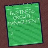 Gestione di crescita di affari di rappresentazione del segno del testo Foto concettuale che amplifica la linea o il reddito super immagine stock libera da diritti