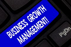 Gestione di crescita di affari di rappresentazione del segno del testo Foto concettuale che amplifica la linea o il reddito super fotografia stock libera da diritti